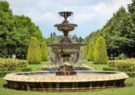 Smart Solar Somerset Verdigris solar bird bath fountain