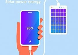 Solar powered portable charger for your power storage.